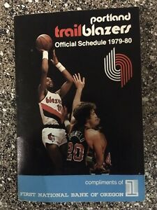 Portland Trail Blazers 1979-80 Ron Brewer NBA Pocket Schedule bundle NEW