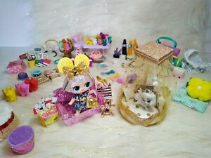 LOL SURPRISE 6 PC LOT RANDOM CUSTOM FURNITURE FOOD ACCESSORIES AND MORE *NO DOLL