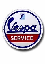 VESPA SERVICE ROUND METAL SIGN,MODS,SCOOTERS