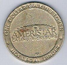 Ameristar Riverboat $1.00 Gaming Token Vicksburg Mississippi