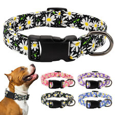 Fancy Floral Nylon Pet Dog Collars Soft Adjustable for Medium to XXLarge Dogs