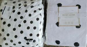 PB Teen Tufted Dot Duvet Full & Emily Merrit Painted Dot Full Sheets