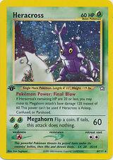 Heracross Holo 1st Edition Pokemon Card Neo Genesis 6/111