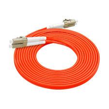 10Pcs 3 M LC-LC Duplex Multimode 62.5/125 M/M OM1 Fiber Optic Cable Patch Cord