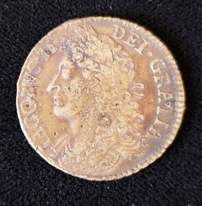 1690 Ireland May Brass 1/2 Crown James II KM-95 in VF/XF Condition - H