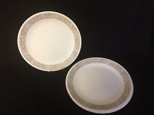 CORELLE WOODLAND BROWN SET OF 8 DINNER PLATES 2 SETS AVAILABLE