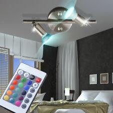 Design RGB LED Decken Lampe Esszimmer Strahler Fernbedienung DIMMER verstellbar