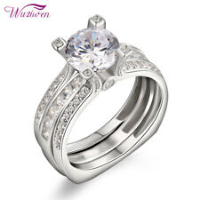 Engagement Ring Set For Women Size 8 2.5ct Round White Aaa Cz Wedding Rings