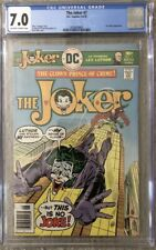 Joker #7 (1976) CGC 7.0 Lex Luthor Cover and Appearance Ernie Chan Cover Rare
