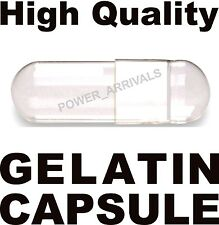 500 EMPTY GELATIN CAPSULES SIZE 1 (Kosher) GEL CAPS PILL COLOR - CLEAR