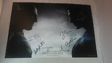 SDCC Comic Con 2015 Batman vs Superman Dawn of Justice Auto Signed Poster