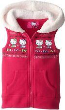 Hello Kitty Pink Vest Soft Sherpa Faux Fur Hood. Size 3T. Like New.