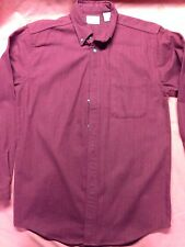 Used L.L. Bean Mens Small Red Flannel 100% Cotton Lumber Jack Shirt Axe