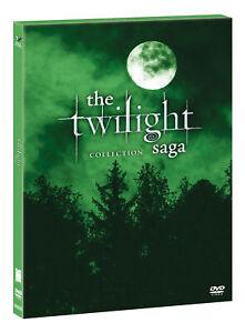 TWILIGHT SAGA COLLECTION GREEN BOX  5 DVD  COFANETTO