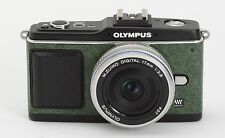 Camera Leather decoration sticker for Olympus E-P1/EP2 Green Made in Japan
