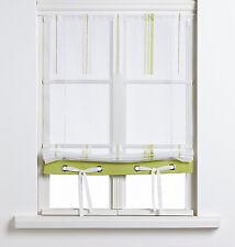 Scheibengardine Raffrollo Bändchenraffrollo 2204 80/100 cm breit weiß rot grün