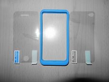 Bumper Silikon Hülle Tasche Apple iPhone 4 4S Schutzhülle Blau + Folien 2 Seiten