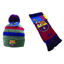 Barcelona Scarf and Beanie  Winter Lionel Messi Jersey Soccer  New Season FC