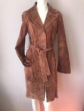 PElLE STUDIO Wilson's Leather Long Brown Coat Trench Women's