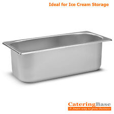 Stainless Steel 5 Litre Napoli Pan / Ice Cream Parlour Container Bin 5 Litre