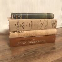 Lot of 4 John Steinbeck Novels Grapes Moon Travels Stories Vintage DJ HC Early