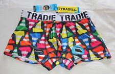 Tradie Work N Surf Mens Traffic Cone Print Quick Dry Trunk Brief Size XL