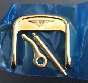 Genuine Longines 12mm Gold Plated Stainless Steel Buckle & Pin L649101650