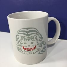 Vtg Collector's Cheshire Cat Coffee Cup Mug 1990 Rivertown Trading Co. RED SMILE