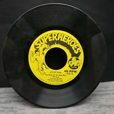 """Super Heroes Spider Man The Mark of the Man Wolf Power Records (7"""") 1974"""