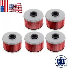 5x Oil Filter For Honda ATC250ES TRX250 TRX300 TRX350 TRX400EX TRX420 TRX450