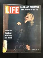 "Vintage LIFE Magazine April 3, 1970 ""Laos and Cambodia - Lauren Bacall"""