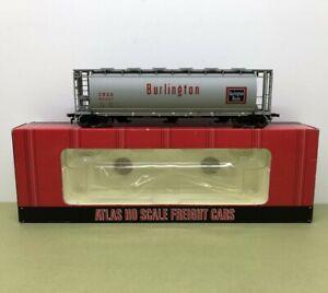 HO SCALE ACF 3 BAY CYLINDRICAL HOPPER BURLINGTON 85407 ATLAS 1932-03 - NOS MIB