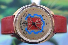 Gran muy grande para hombre Vintage de Chapado en Oro Reloj Mecánico De La Urss Raketa 16 joyas!