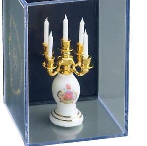 Dollhouse 5-Arm Filled Candelabra 1.638/6 Reutter Dresden Rose Miniature