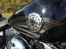 Genuine Harley Chrome Softail Breakout Sportster Dyna Fuel Gas Tank Emblems
