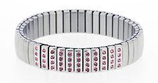 Stretch Surgical Steel Bracelet with Swarovski Stones model 116B