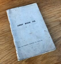 First World War WW1 Army Book 136, Filled With Notes Drawings, Signals