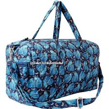 469a40f393e3 Laurel Burch Indigo Cats Duffle Bag Weekender Quilted Pockets Adj Strap New