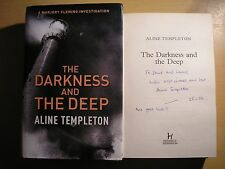 ALINE TEMPLETON - THE DARKNESS AND THE DEEP  1st/1st  HB/DJ  2006  SIGNED, DATED