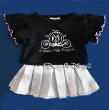 Build-A-Bear DISNEY CINDERELLA COACH BLACK TOP, SILVER SKIRT Teddy Clothes Set