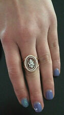 Anello in argento 925 Rosè cammeo CZ sardonico ring flower cameo Made in Italy