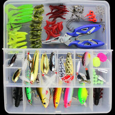 Fish Tackle Box With Fishing Bait Accessories Case Lure Parts KitQA