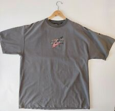 Harley Davidson XL Men's Gray Striped Embroidered S/S T-shirt