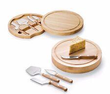 Queso de madera cortador y Tablero CROMADO PARA PICAR & servir Tabla