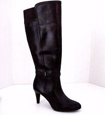 CIRCA Joan & David Luxe Brown Leather HADIE Wide Calf Side Zip Boots Size 6.5 M