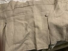 """New Pottery Barn Pleated Button Queen Bed Skirt w/14"""" Drop~Natural Linen"""