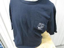 Vintage S.C. Champion Authentic Apparel Navy Pocket Shirt 100% Cotton Nwt