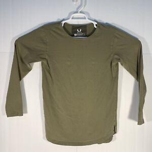 ASRV Aesthetic Revolution Long Sleeve Pullover Shirt Tee Men's Size Medium Green