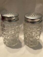 Vintage Salt And Pepper Shakers Clear Glass