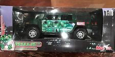 MAISTO MARVEL THE INCREDIBLE HULK 2003 HUMMER H2 SUV 1/18 DIE CAST NEW IN BOX